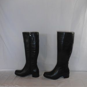 ANDRE ASSOUS black leather tall boots sz. 7.5M